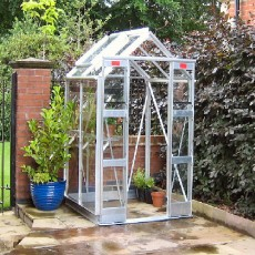 "4'3"" (1.30m) Wide Elite Compact Aluminium Greenhouse PACKAGE Range"