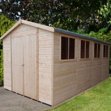 20 x 10 (5.96m x 2.98m) Shire Workspace Apex Garden Shed