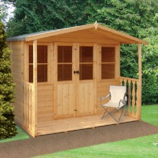 7 x 7 (2.05m x 2.18m) Shire Houghton Summerhouse