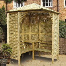 Grange Valencia Corner Garden Arbour with Table