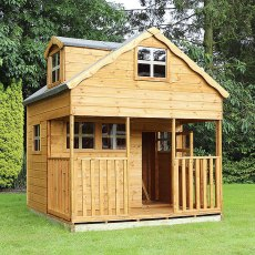 7 x 7 (2.2m x 2.2m) Mercia Dormer Playhouse
