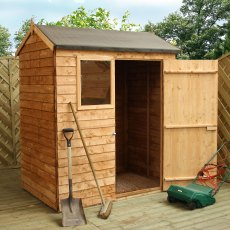6 x 4 (1.81m x 1.31m) Mercia Overlap Reverse Shed