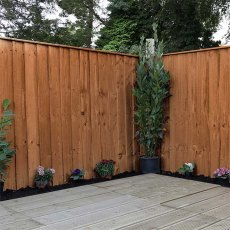 3ft High (915mm) Mercia Vertical Feather Edge Flat Top Fencing Packs - Pressure Treated