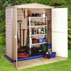 5 x 3 (1.73m x 0.97m) Duramax Little Hut Plastic Shed