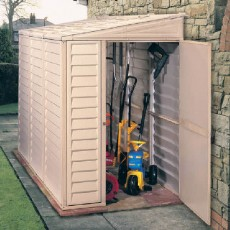 4 x 8 (1.21m x 2.39m) Duramax Sidemate Plastic Shed