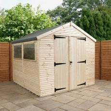 8 x 8 (2.44m x 2.58m) Mercia Ultimate Shed