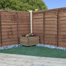 4ft High (1220mm) Mercia Waney Edge (Lap) Fencing Packs - Pressure Treated
