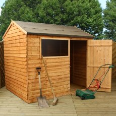 8 x 6 (2.41 x 1.90m) Mercia Overlap Reverse Shed