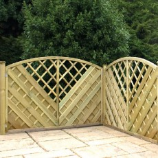 4ft High (1200mm) Mercia Southwell Pressure Treated Fencing Packs with Integral Trellis