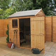 6 x 6 (1.81m x 1.90m) Mercia Overlap Reverse Apex Shed