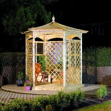 Grange Budleigh Gazebo with Side Panels (Dressed A)