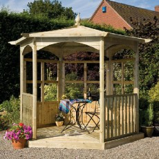 Grange Budleigh Gazebo with Side Panels (Dressed B)