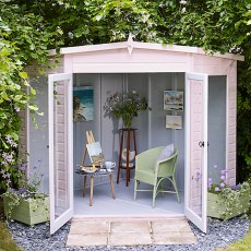 7 x 7 (2.05m x 2.05m)  Shire Barclay Corner Summerhouse