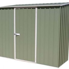 7 x 3 (2.26m x 0.78m) Mercia Space Saver Metal Shed (Eucalyptus)