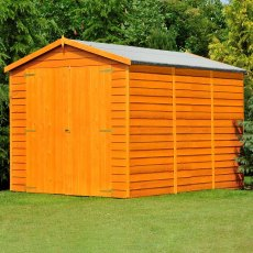 12 x 6 (3.59m x 1.83m) Shire Overlap Windowless Shed with Double Doors