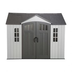 10 x 8 (2.95m x 2.34m) Lifetime Plastic Shed (with Single Entry)