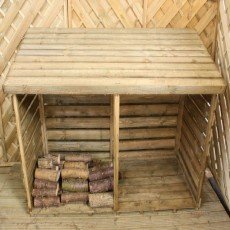 6 x 3 (1.84 x 0.82m) Mercia Double Log Store