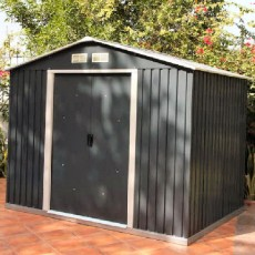 8 x 6 (2.55m x 1.73m) Emerald Rosedale Metal Shed (Anthracite)