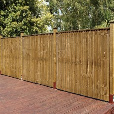 5ft High (1500mm) Grange Weston Closeboard Fencing Packs - Golden Brown