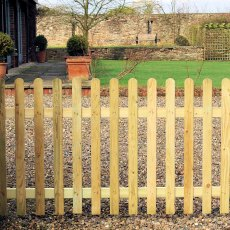 4ft High (1200mm) Grange Elite Palisade Round Top Fencing Packs (Planed Timber)