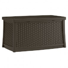 Suncast Rattan Style Coffee Table with Storage - 113.5 Litre Capacity