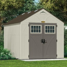 8' (2.44m) Wide Suncast Tremont Plastic Storage Shed