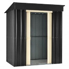 5 x 3 (1.40m x 0.82m) Lotus Pent Metal Shed (Slate Grey)
