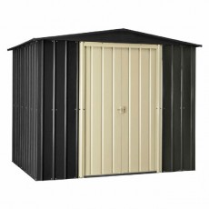 6 x 5 (1.71m x 1.44m) Lotus Apex Metal Shed (Slate Grey)