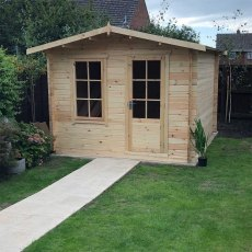 10G x 14 (2.99m x 4.19m) Shire Bucknells Log Cabin (28mm logs)