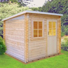 8G x 12 (2.39m x 3.59m) Shire Dean Log Cabin (28mm to 70mm Logs)