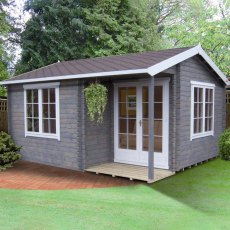 14G x 15 (4.19m x 4.49m) Shire Twyford Log Cabin (34mm to 70mm Logs)