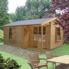 14G x 15 (4.19m x 4.49m) Ringwood Log Cabin (28mm logs)