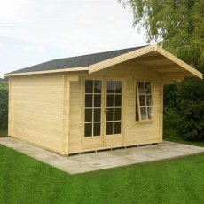 14G x 8 (4.19m x 2.39m) Shire Glenmore Log Cabin (28mm to 70mm Logs)