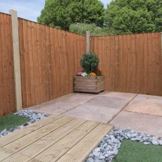 4ft High (1220mm) Mercia Vertical Feather Edge Flat Top Fencing Packs - Pressure Treated