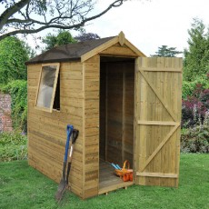 6 x 4 (1.78m x 1.14m) Forest Shiplap Pressure Treated Apex Shed