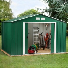 10 x 10 (3.12m x 2.92m) Emerald Springdale Metal Shed (Green)