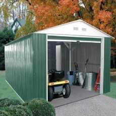 12 x 38 (3.62m x 11.35m) Emerald Olympian Metal Garage (Green)