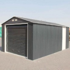 12 x 32 (3.62m x 9.55m) Emerald Olympian Metal Garage (Anthracite)