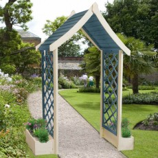Shire Rose Arch with integral flower boxes