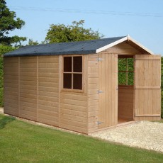 13 x 7 (3.96m x 2.05m) Shire Jersey Pressure Treated Apex Shed