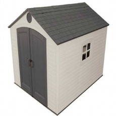 8 x 7 (2.39m x 2.24m) Lifetime Plastic Shed Special Edition