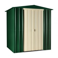 6 x 5 (1.71m x 1.44m) Lotus Apex Metal Shed (Heritage Green)