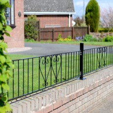 1'7' High (485mm) Metpost Ludlow Scroll Metal Railing