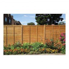 2ft High (600mm) Grange Lap Fencing Packs Golden Brown - Pressure Treated
