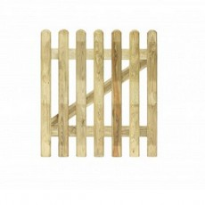 3ft High (1000mm) Grange Elite Profiled Wooden Picket Gate Pressure Treated