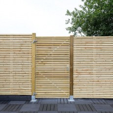 6ft High (1800mm) Grange Contemporary Gate - Pressure Treated