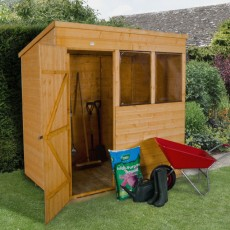 7 x 5 (2.09m x 1.53m) Forest Shiplap Pent Garden Shed