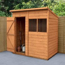 6 x 4 (1.82m x 1.07m) Forest Shiplap Pent Garden Shed