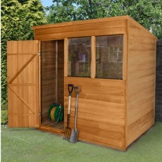 7 x 5 (2.10m x 1.50m) Forest Overlap Pent Shed