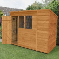 10 x 6 (3.11m x 2.03m) Forest Overlap Pent Garden Shed